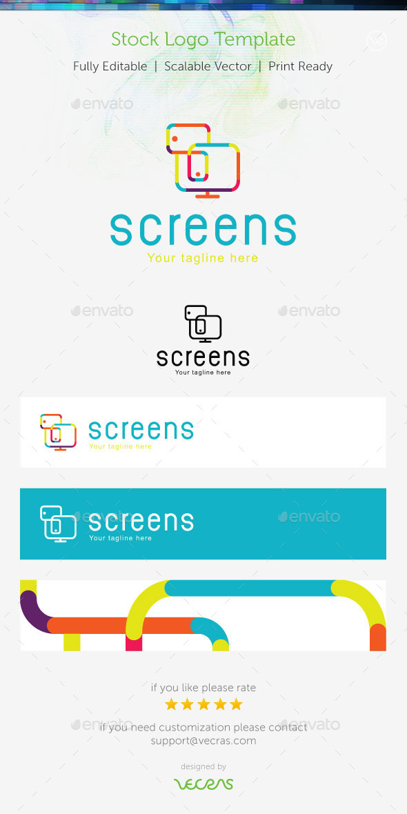 Screens Stock Logo Template