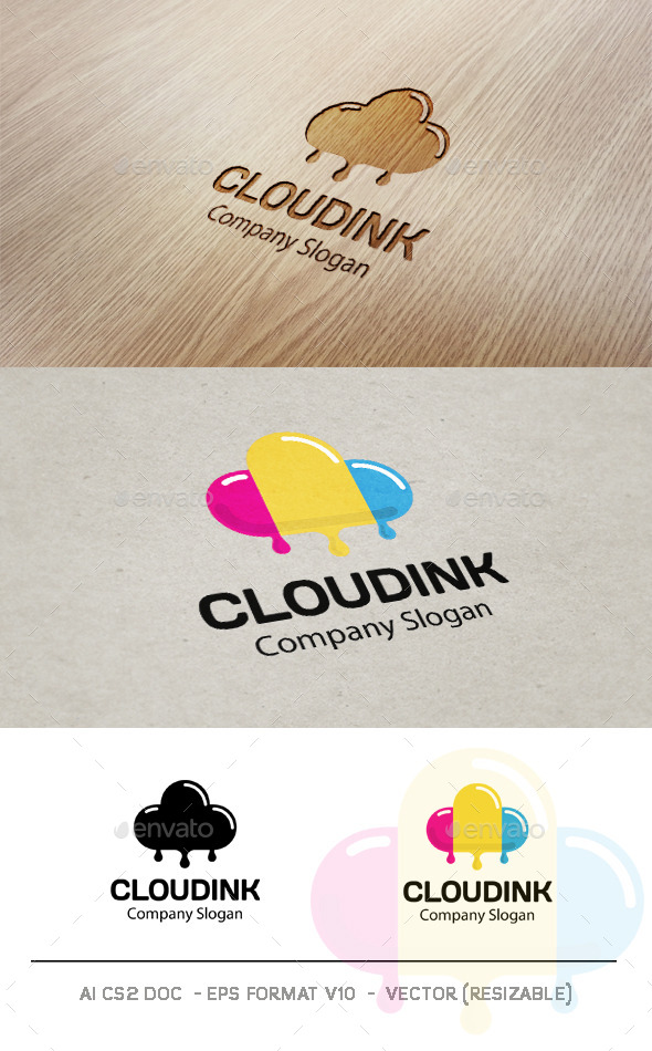 Cloud Ink Logo - Symbols Logo Templates