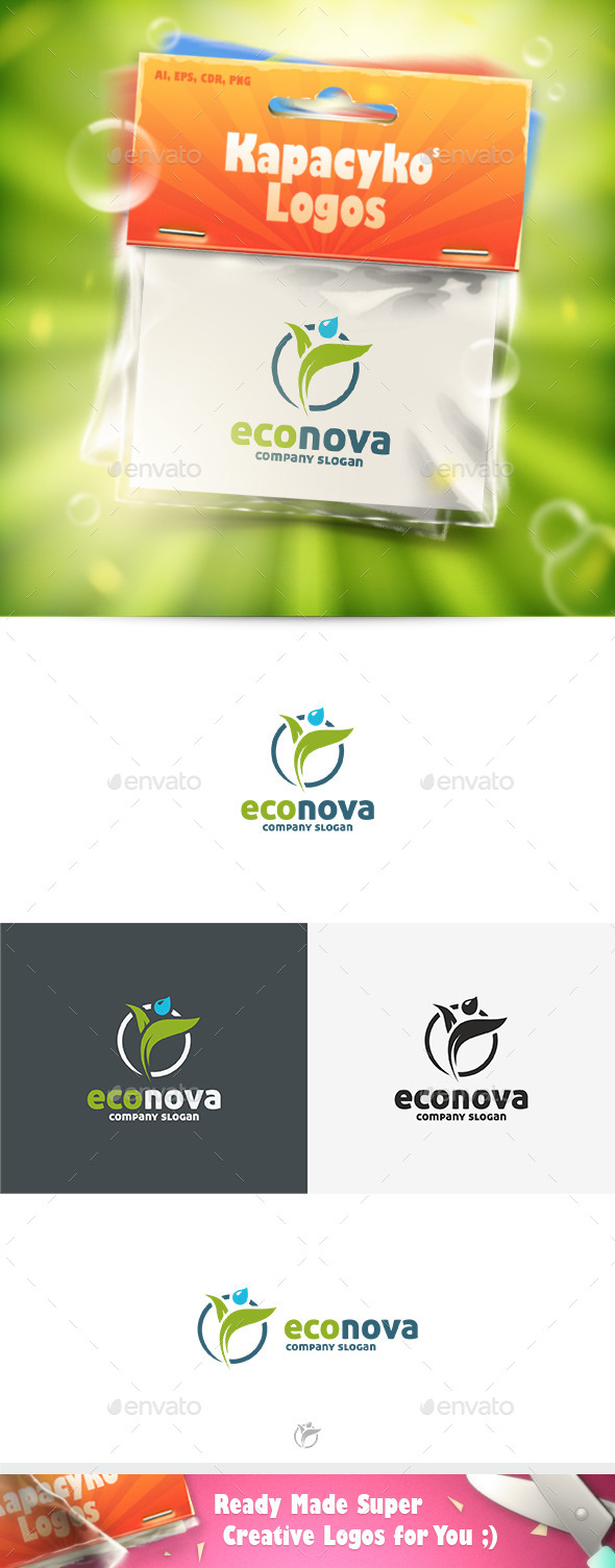 Eco Nova Logo - Nature Logo Templates