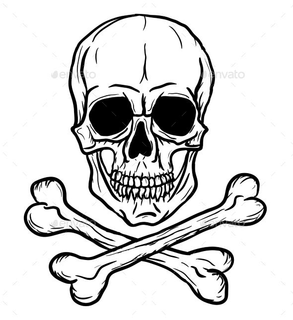Skull and Crossbones - Objects Vectors