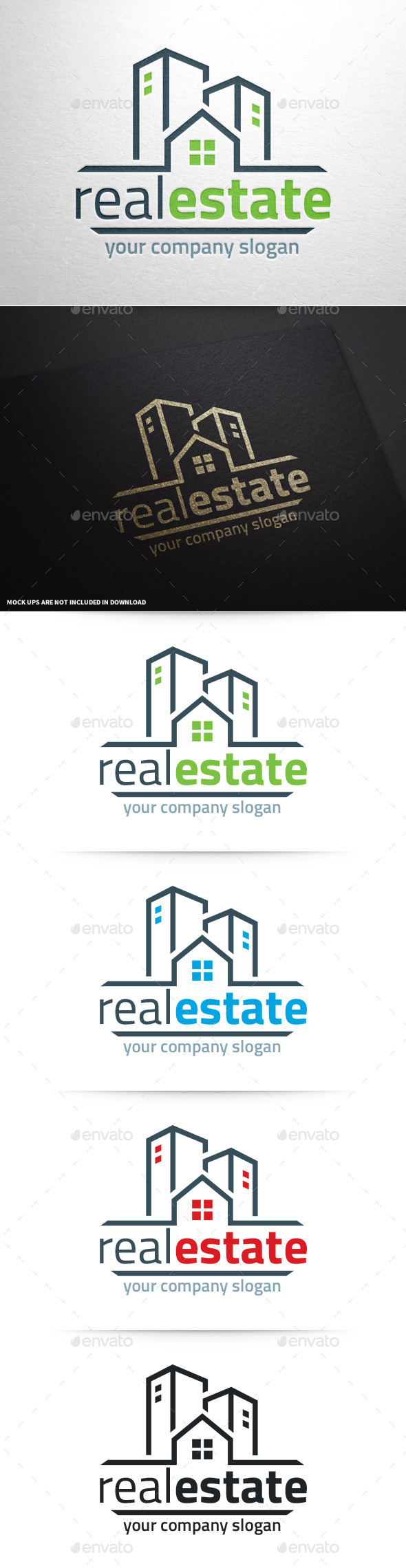 Real Estate Logo Template v2 - Buildings Logo Templates