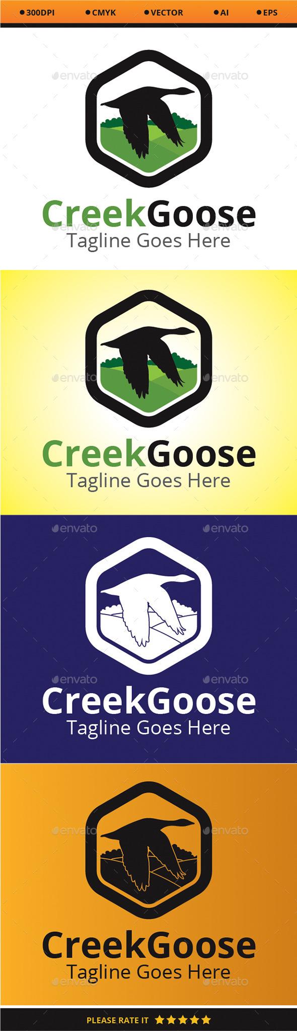 Creek Goose - Animals Logo Templates