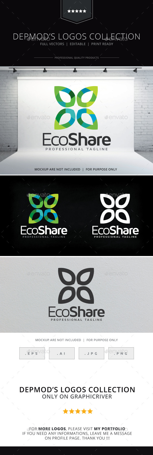 Eco Share Logo - Nature Logo Templates