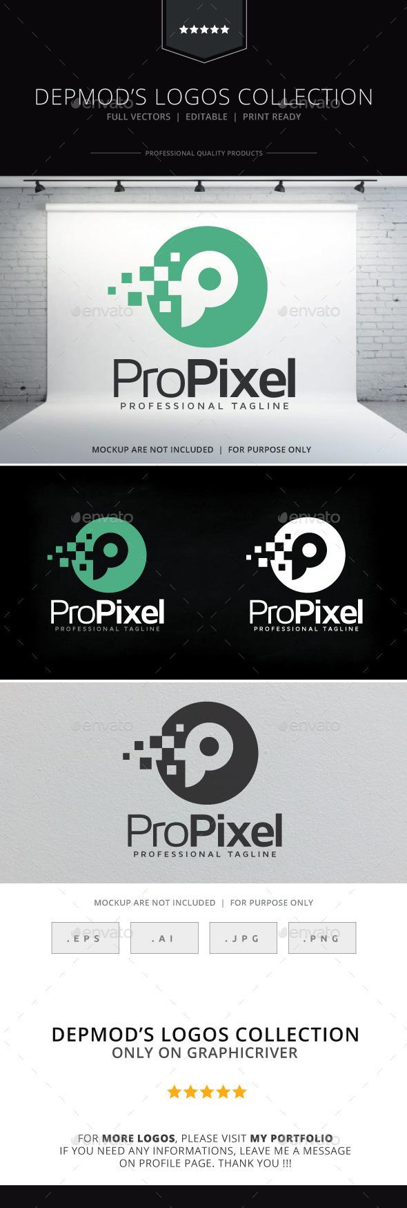 Pro Pixel Logo - Letters Logo Templates