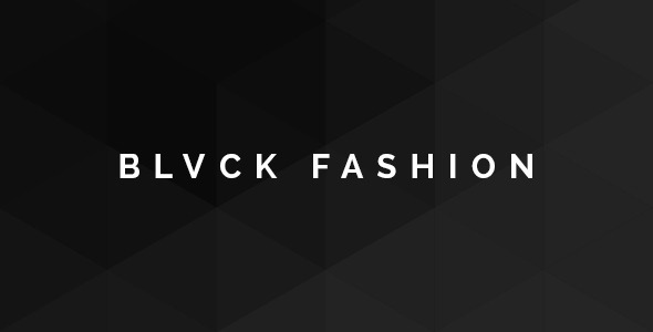 Blvck Fashion Store PSD - Fashion Retail