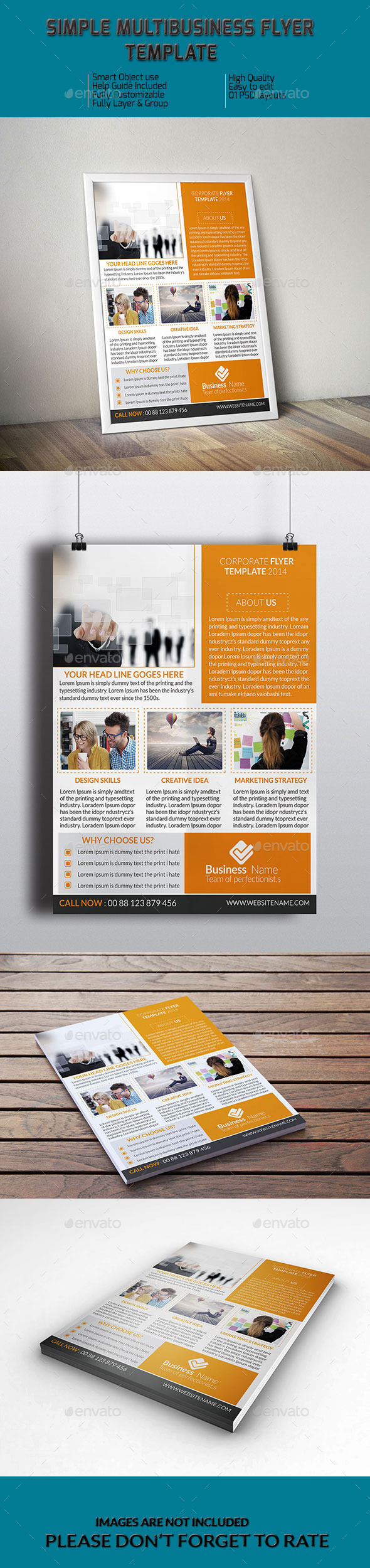 Simple MultiBusiness Flyer Template - Corporate Flyers