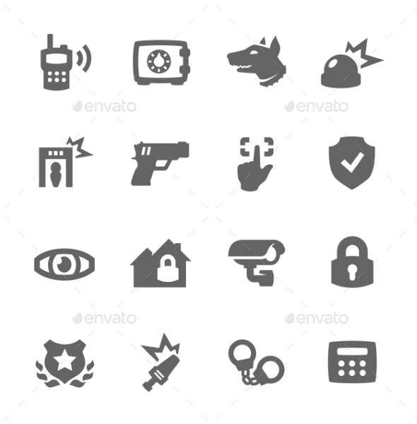 Security Icons - Objects Icons