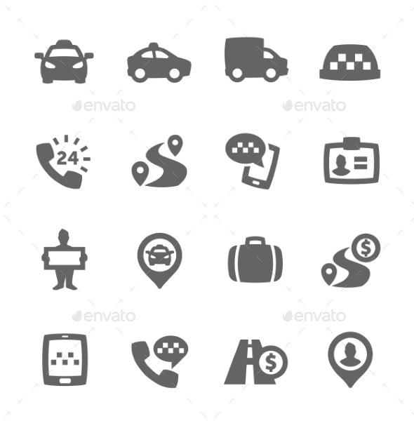 Taxi Icons - Miscellaneous Icons