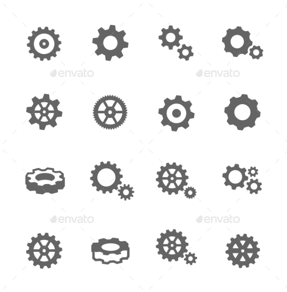 Gear Icons - Objects Icons