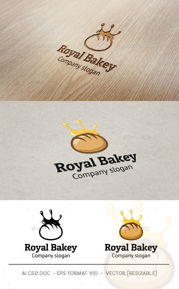 Royal Bakery Logo - Food Logo Templates