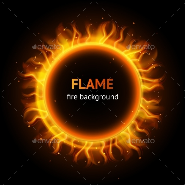 Flame Circle Background - Miscellaneous Vectors