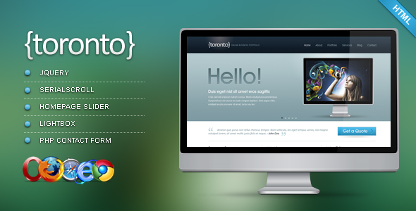 Free Download Toronto - HTML/CSS Template Nulled Latest Version