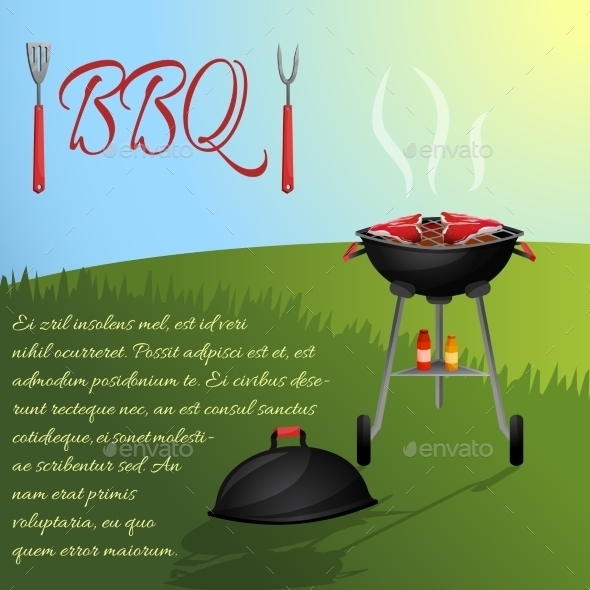 Bbq Menu Poster - Food Objects
