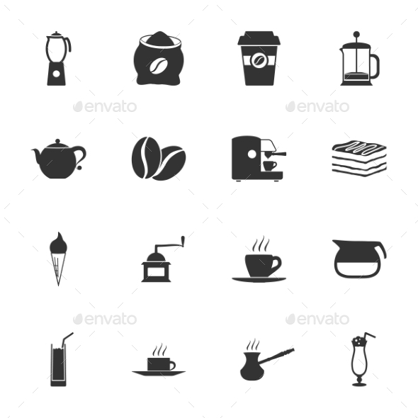 Coffee Icons - Web Technology