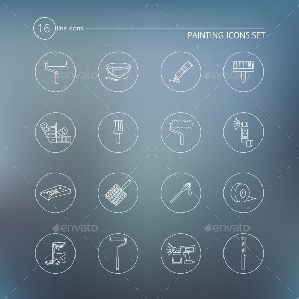 Painting Icons Outline - Objects Icons