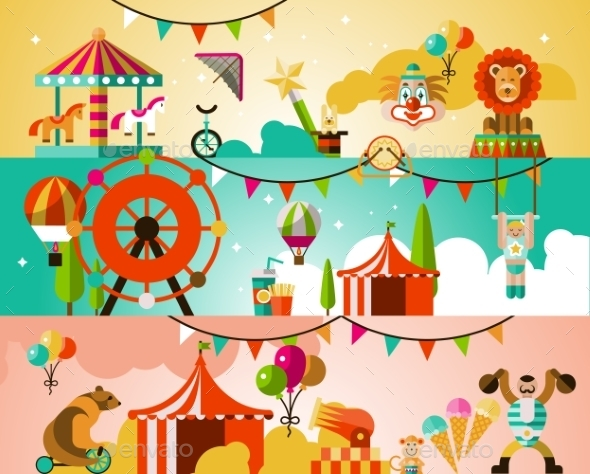 Circus Performance Background - Borders Decorative