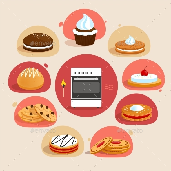 Cookies Decorative Set - Food Objects