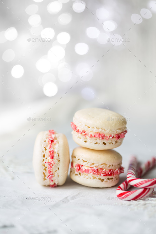Christmas macarons - Stock Photo - Images