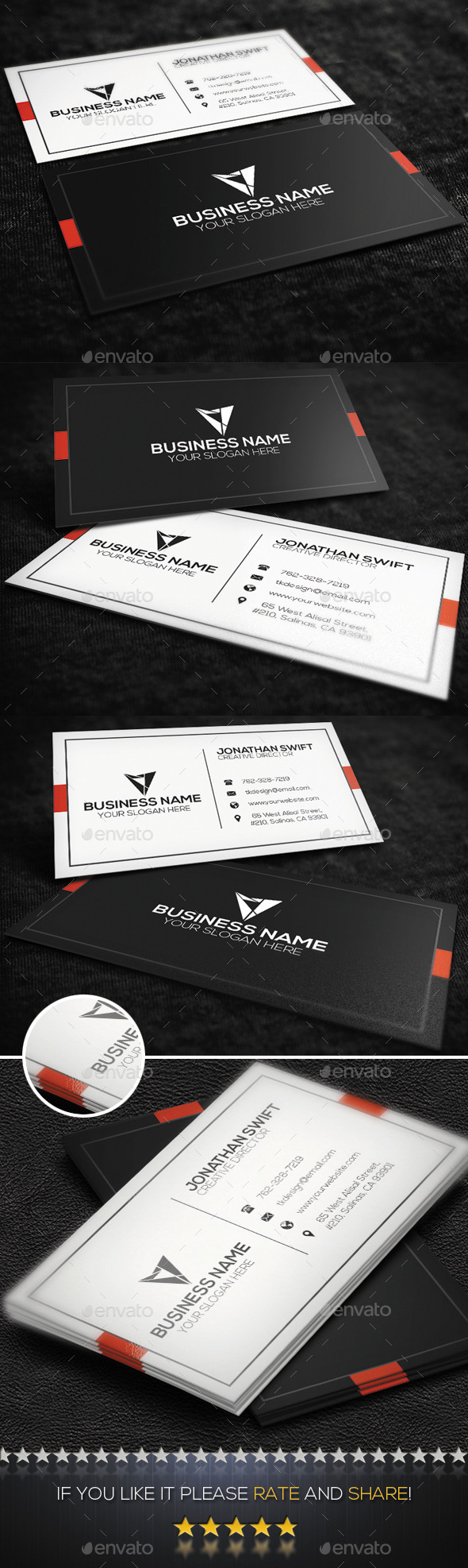 Corporate Business Card No.06 - Corporate Business Cards