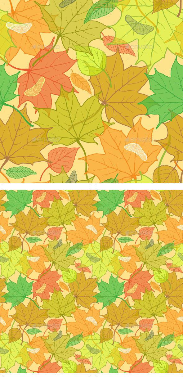 Autumn Fallen Leaves Pattern - Patterns Decorative
