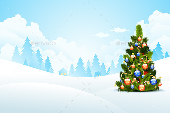 Christmas Landscape - Christmas Seasons/Holidays