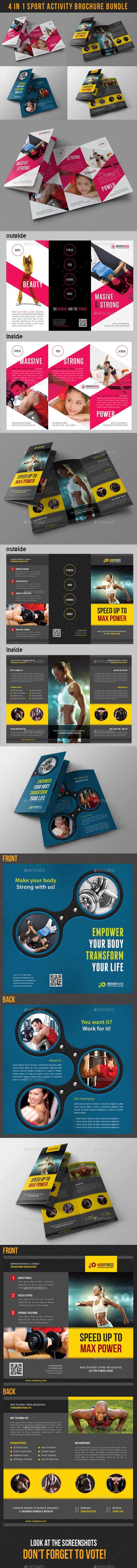 4 in 1 Sport Activity Brochure Bundle - Corporate Brochures