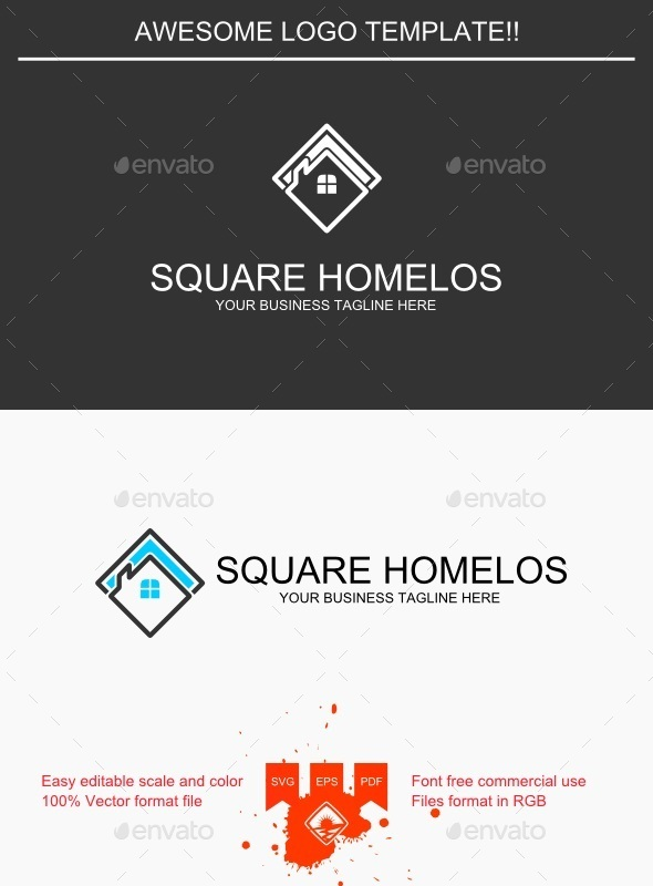 Square Homelos Logo - Buildings Logo Templates