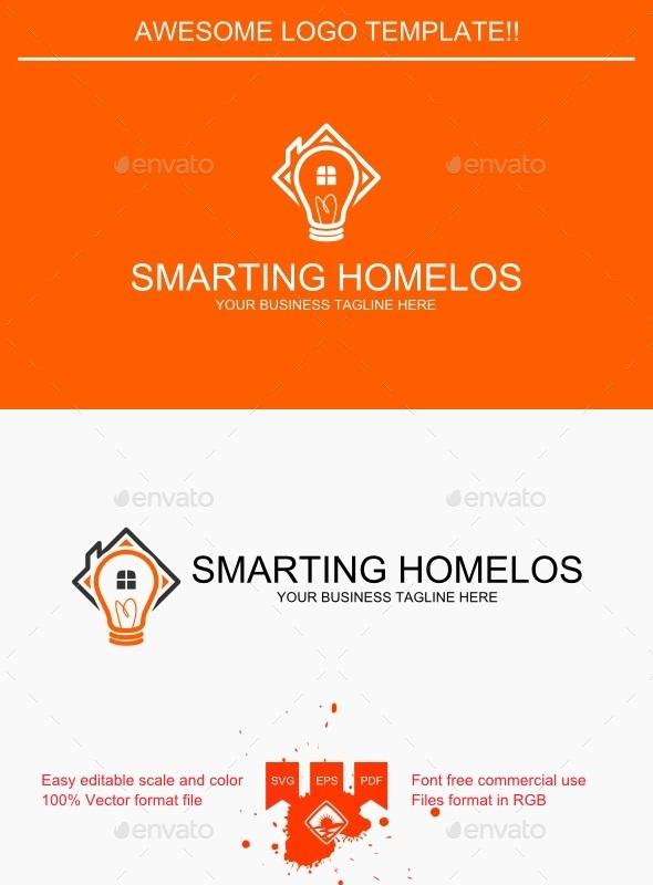 Smarting Homelos Logo - Buildings Logo Templates