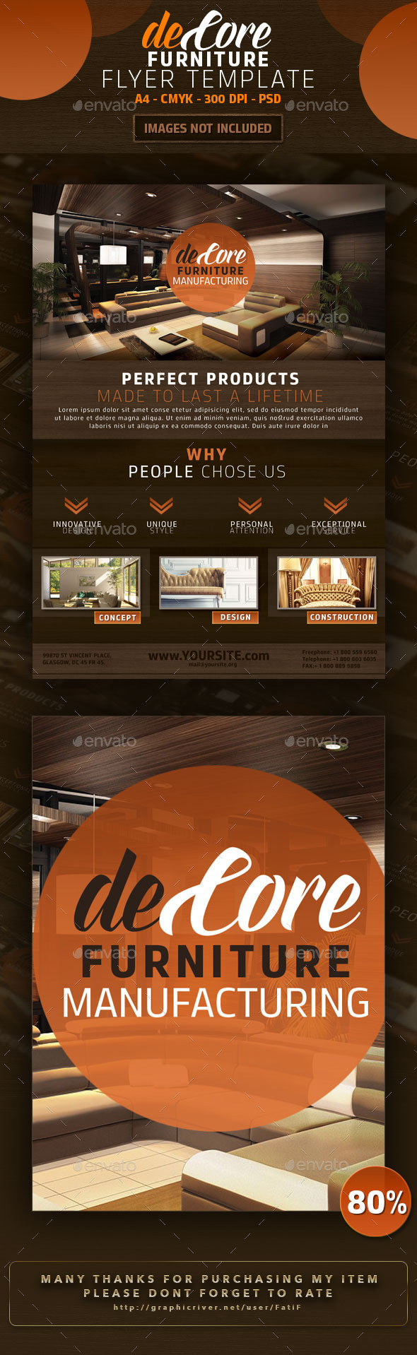 DeCore Furniture Flyer Template - Corporate Flyers