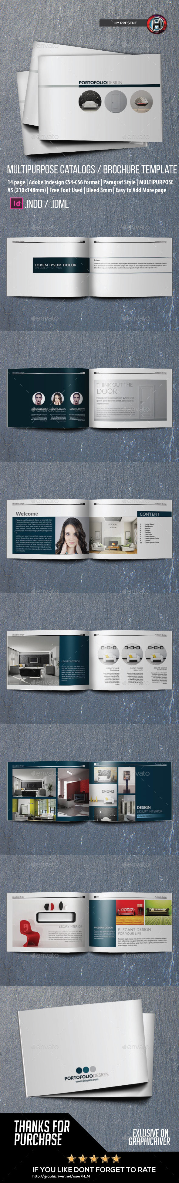 Multipurpose Brochure or Portofolio Design - Catalogs Brochures