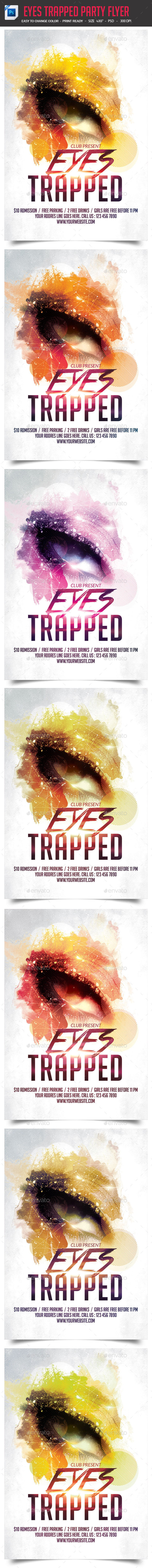 Eyes Trapped Party Night Flyer - Clubs & Parties Events