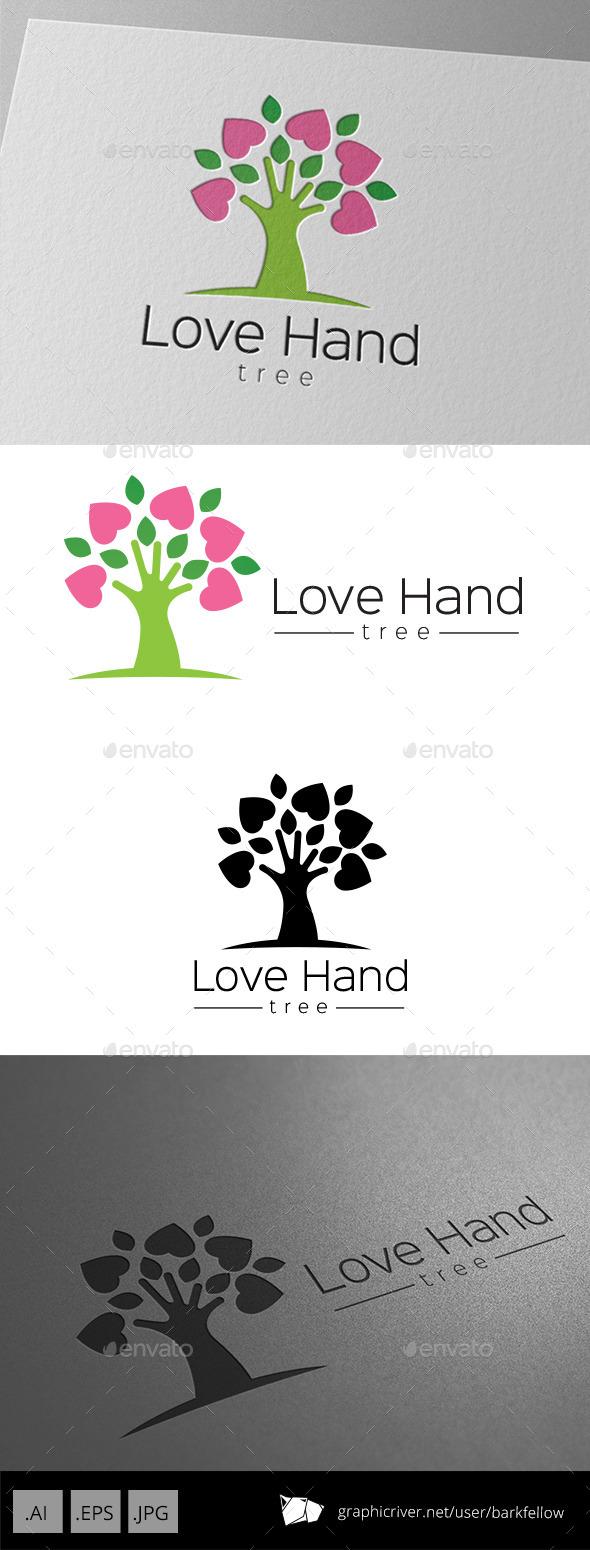 Love Hand Tree Logo - Nature Logo Templates