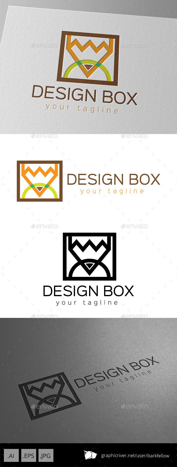 Pencil Square Design Template - Abstract Logo Templates