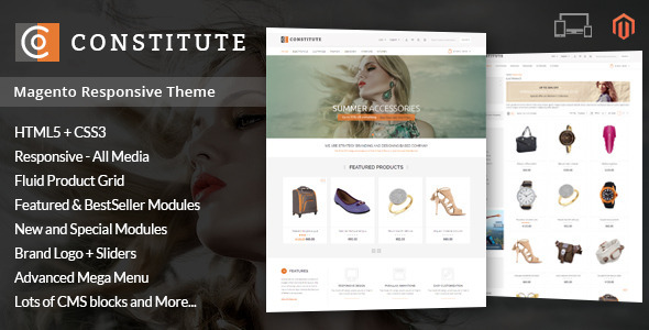 Constitute - Magento Responsive Theme - Shopping Magento
