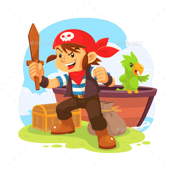 Pirate Boy - People Characters