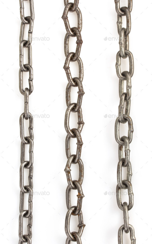 metal chain on white - Stock Photo - Images
