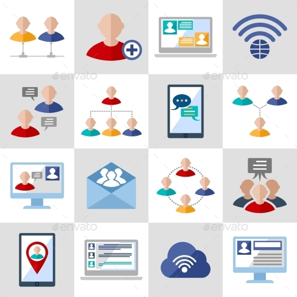 Communication Icons Set - Concepts Business