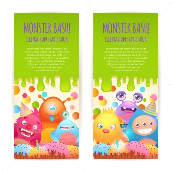 Monsters Vertical Banners - Monsters Characters
