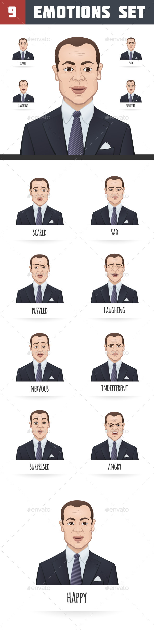 Emotions of a Businessman - People Characters