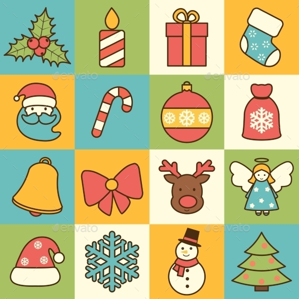 Christmas Icons Set  - Christmas Seasons/Holidays