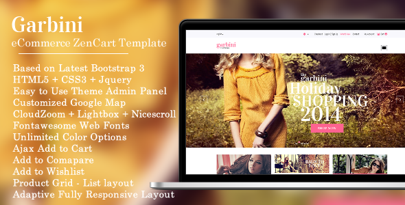 Garbini – Stylish Zencart Responsive Theme