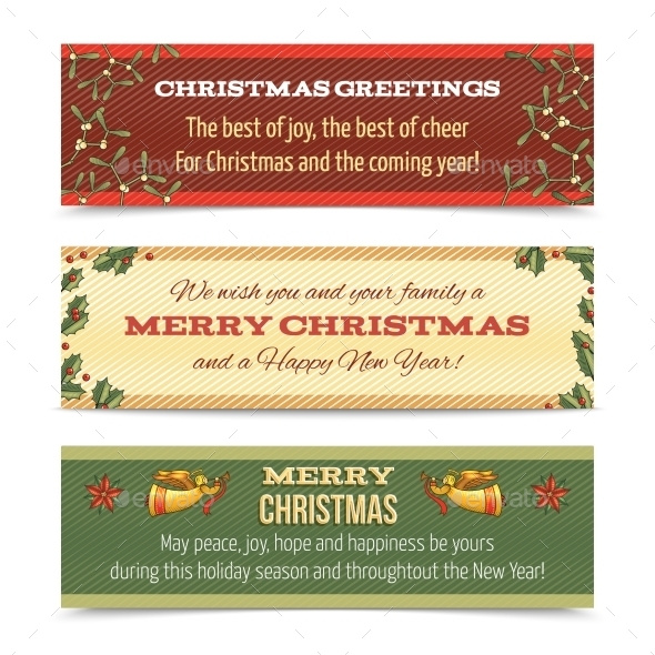 Horizontal Christmas Banner  - Christmas Seasons/Holidays