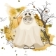 Little Ghost Halloween Background - GraphicRiver Item for Sale