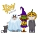 Halloween Children Trick or Treating - GraphicRiver Item for Sale