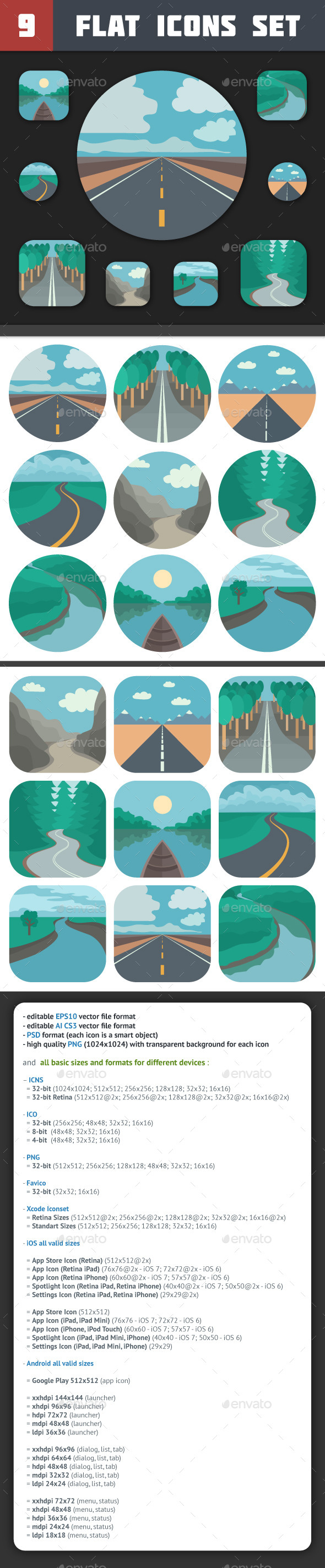 Travel Icons Set - Miscellaneous Icons