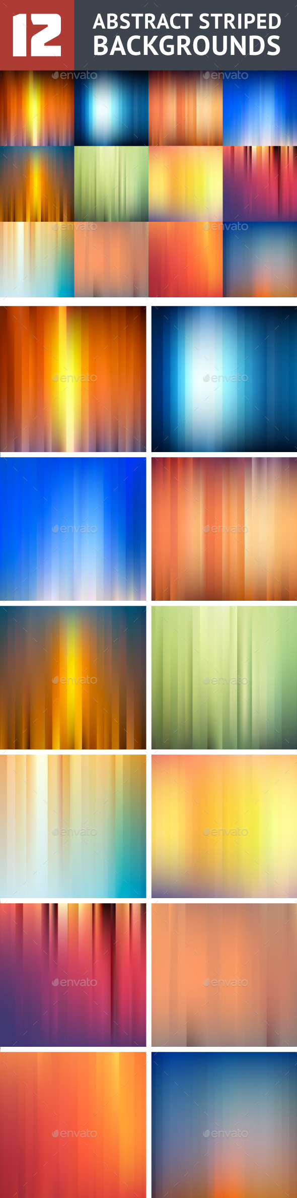 12 Striped Backgrounds - Backgrounds Decorative