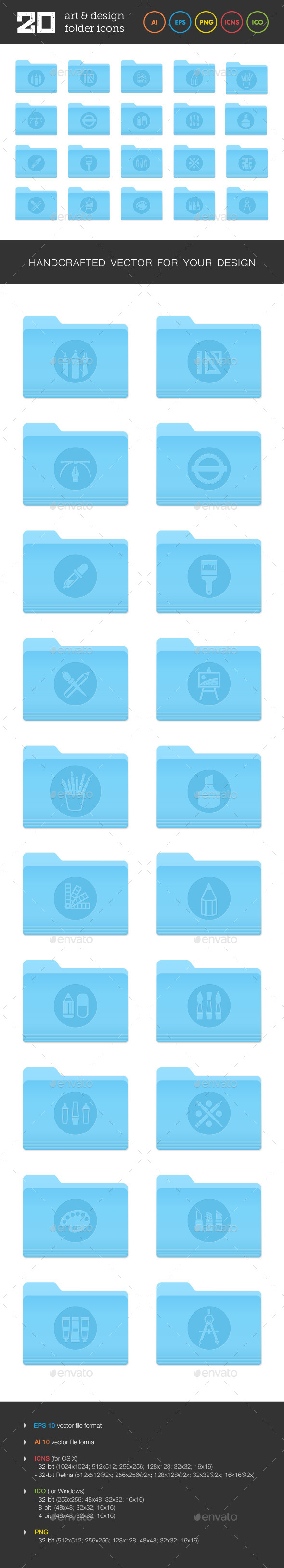 Art and Design Folder Icons Set 2 - Software Icons