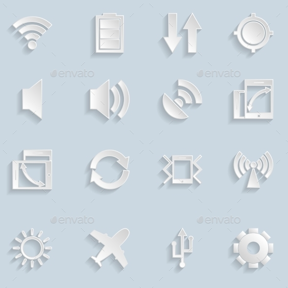 Paper Mobile App Icons - Icons