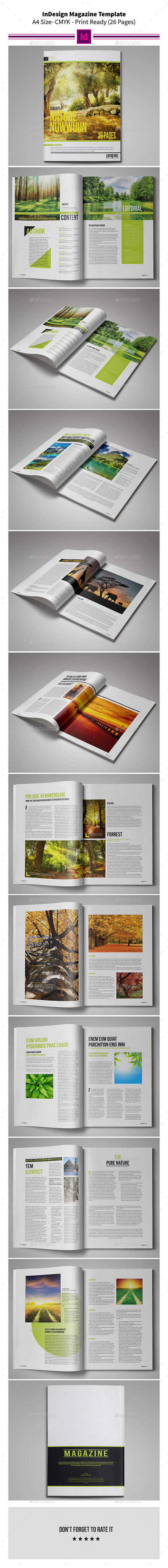 Nature MagazineTemplate 26 Pages - Magazines Print Templates