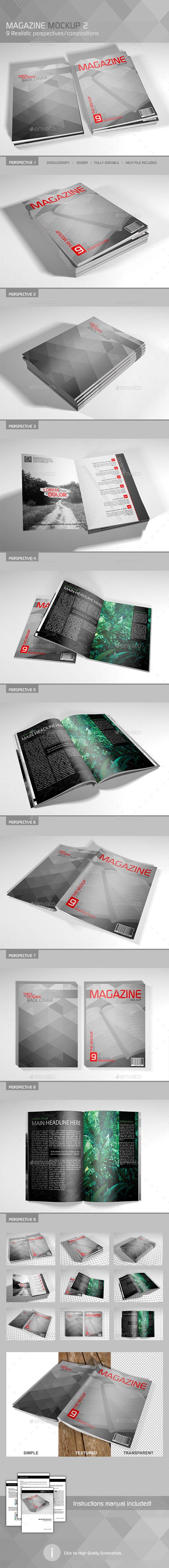 Realistic Magazine Mockup 2 - Magazines Print